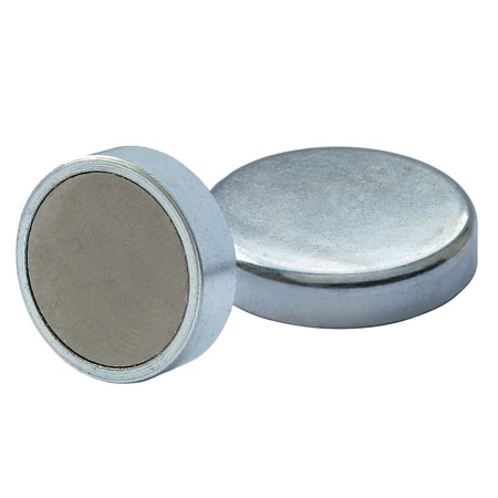 Ferrite shallow pot - zinc plated