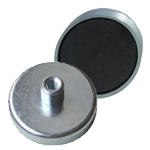 Ferrite shallow pot - threaded hole