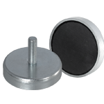Ferrite shallow pot - Male thread